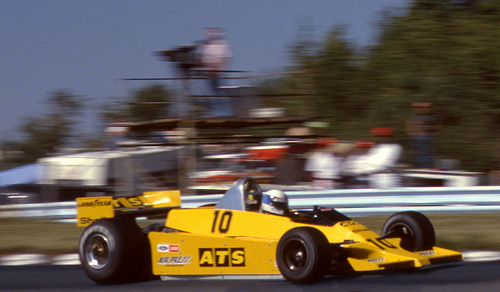 Keke Rosburg in the ATS-Ford, During Qualifying for the US GP at