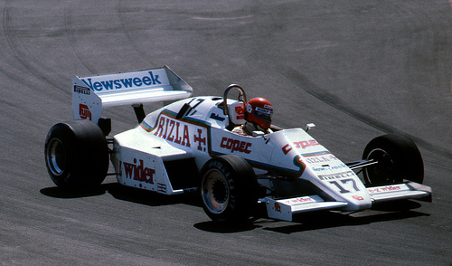 Eliseo Salazar Qualifying the RAM-Ford in the US GP at Long Beac
