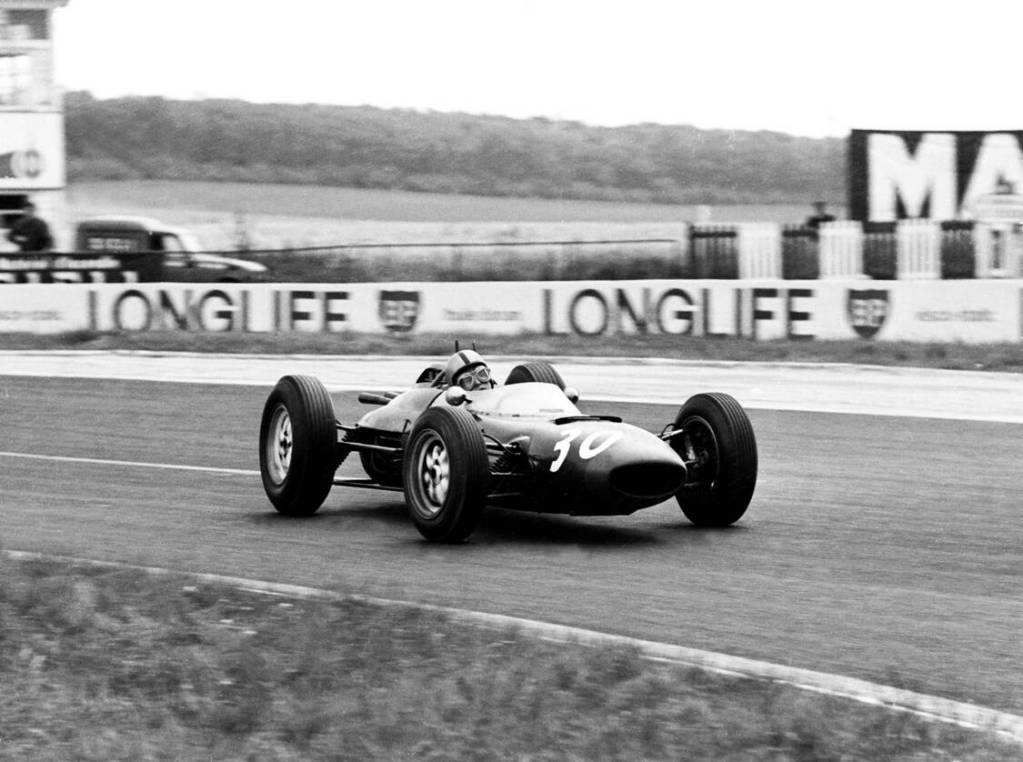 French GP, Reims,  30 June 1963 Chris Amon(7th) Lola Mk4A