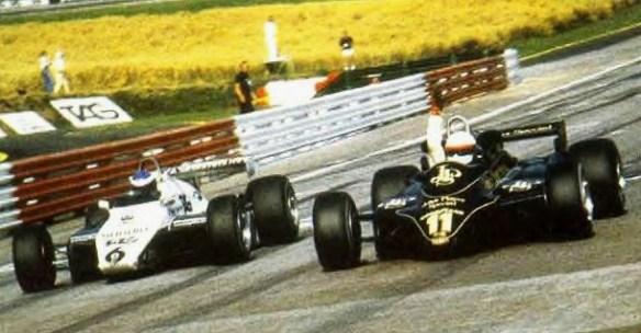 Zeltweg 1982_Keke Rosberg_Willians FW08_Elio de Angelis_Lotus 91