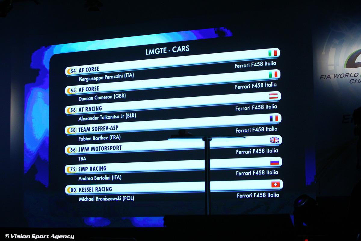 MOTORSPORT : LE MANS 24 HOURS - FIA WEC - ELMS PRESS CONFERENCE - PARIS 02/13/2014