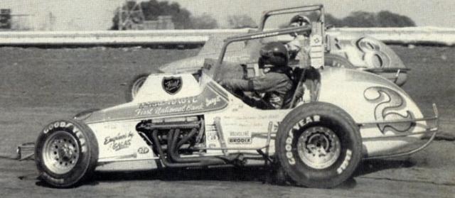 Gary Bettenhausen #2 duels with Johnnie Parson_ Jr_ _Gene Marderness Photo_